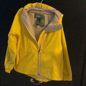 Brand new yellow rain jacket from LL Bean